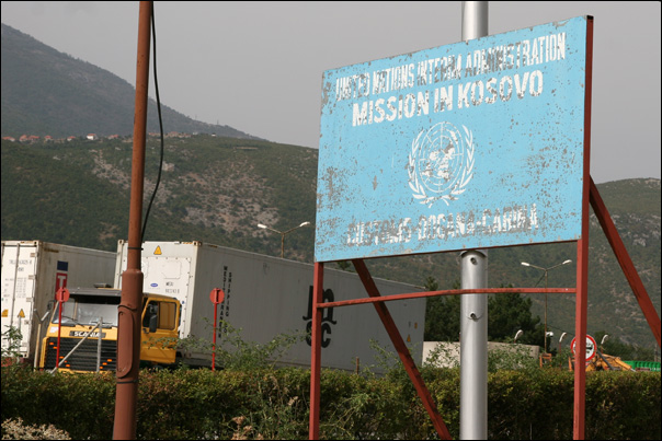 arrivee frontiere kosovo nations unies ONU