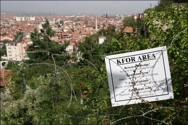 kosovo KFOR area eglise prizren photo