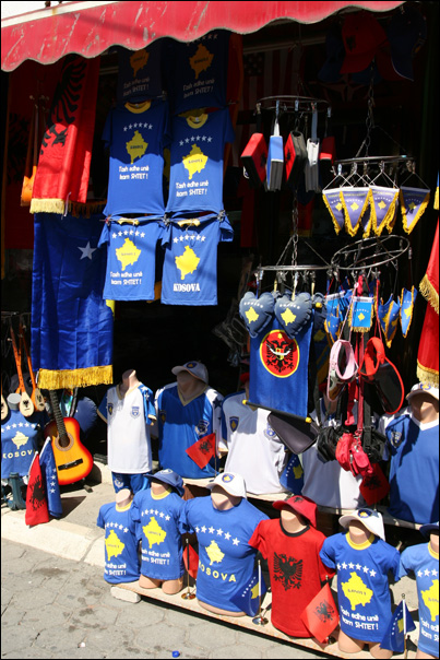 tee shirt maillot goodies kosovo albanie drapeau