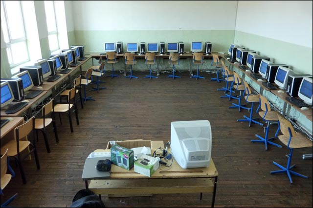 photo classe informatique kosovo