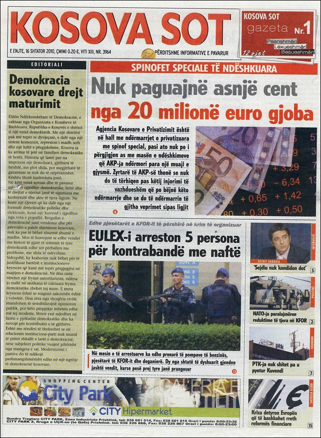 Julien Zaug Journal Kosovo Kosova Sot article ecole primaire 7 Marsi
