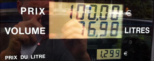 reservoir plein essence SP95 100 euros ca calme