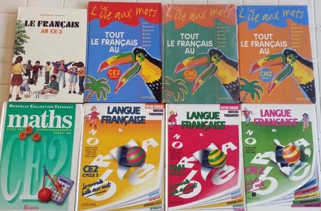 don manuels scolaire francais anglais maths