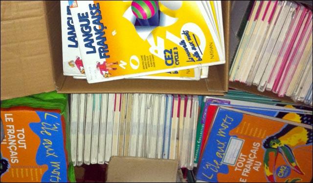 don de 170 manuels scolaires pour apprendre le fran ais informatisation d 39 une cole primaire. Black Bedroom Furniture Sets. Home Design Ideas